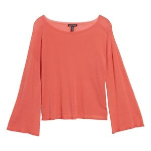 NWT! Eileen Fisher Bell-Sleeve Sweater Mimosa